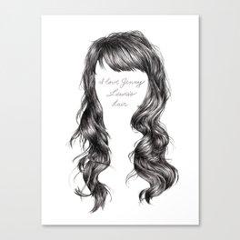 Jenny Lewis's Hair Canvas Print