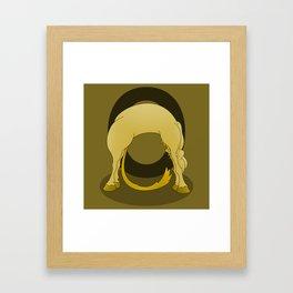 Pony Monogram Letter O Framed Art Print