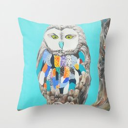 Imaginary owl Throw Pillow