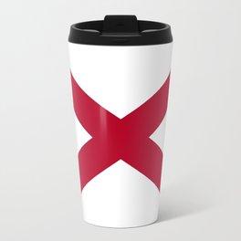 Flag of Alabama-Alabaman,south,birmingham,Montgomery,Jazz,blues,countryside,bible belt,cotton,usa,us Travel Mug