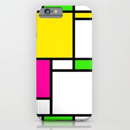Mondrian // Highlighters iPhone Case