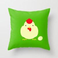 cock Throw Pillows featuring Chicken, cock. by facebook.com/AAPP0