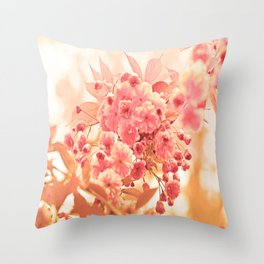 Almond Blossom in Apricot Throw Pillow