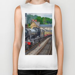 Steam Locomotive Wales Biker Tank