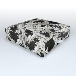 Frosted Fence Outdoor Floor Cushion