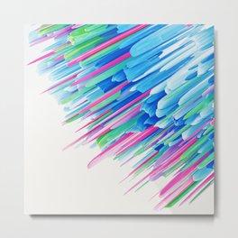 3d abstract neon art Metal Print
