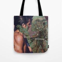 how does it feel with my teeth in your heart? Tote Bag