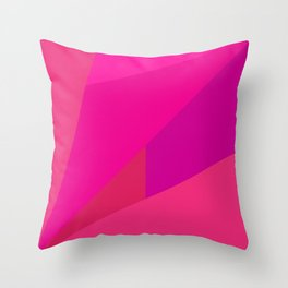Pink Fractal Throw Pillow