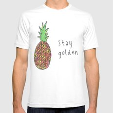 stay golden MEDIUM Mens Fitted Tee White