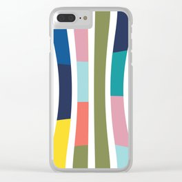 Pantone Colors Geometric Clear iPhone Case
