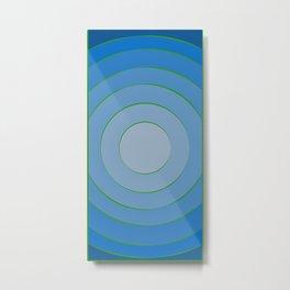 Blue hypnotism Metal Print