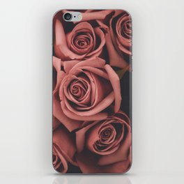 faded film style pink roses iPhone Skin