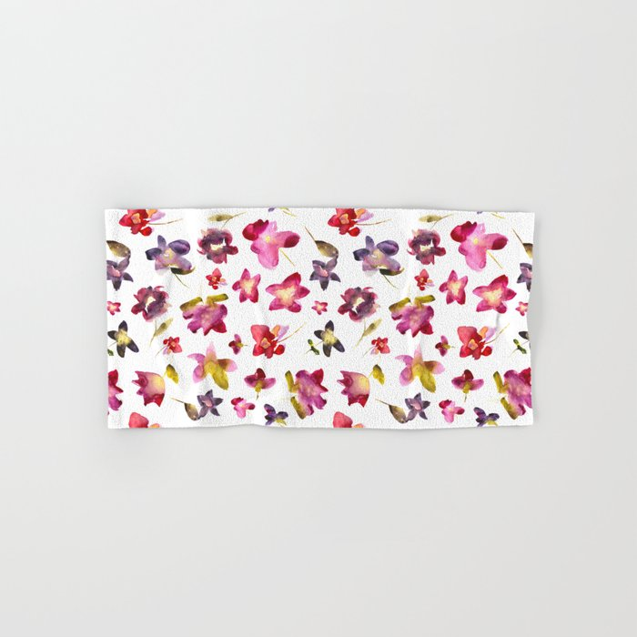 Floral vibes in watercolor Hand & Bath Towel
