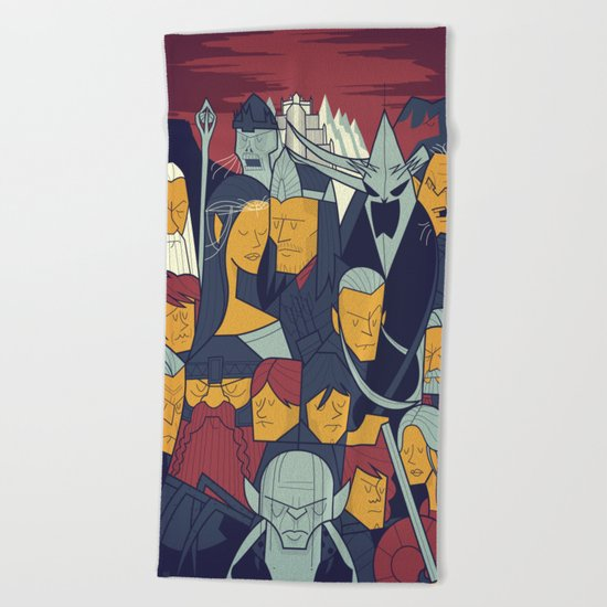The Return of the King Beach Towel