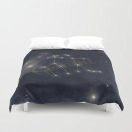 Gemini Constellation - Zodiac Duvet Cover
