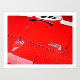 Curvaceous Corvette Art Print