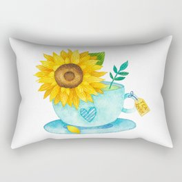 Sunflower Cup of Tea Rectangular Pillow