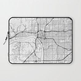 Tulsa Map White Laptop Sleeve