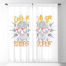 Let's go Surf Blackout Curtain