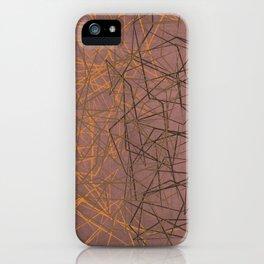 Broken Glass (Mauve) iPhone Case