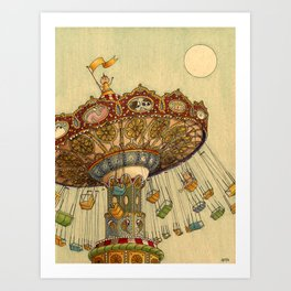 Swing Ride Art Print