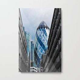 The Gherkin London Metal Print