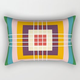 Retro Colored Abstract Shapes Rectangular Pillow