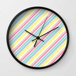 Party stripes Wall Clock
