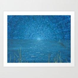 Sailing Moonrise Art Print
