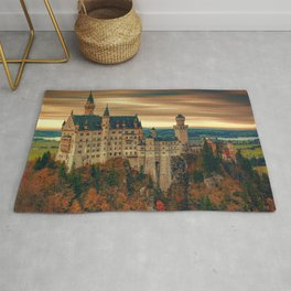 Magnificently Romantic Neuschwanstein Castle Schwangau Bavaria Germany Europe Ultra HD Rug