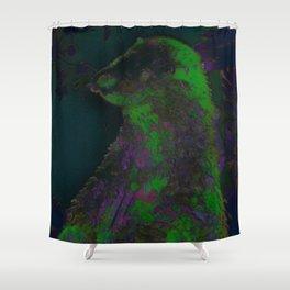 Glow in the Dark Otter Shower Curtain