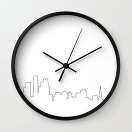 San Francisco 2017 Skyline Outline Wall Clock
