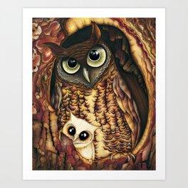 Owl's Hole Art Print