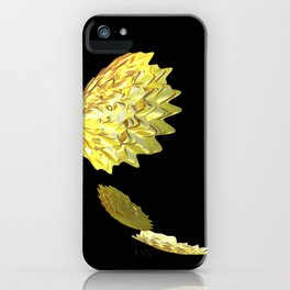 Falling Yellow Leaves iPhone Case
