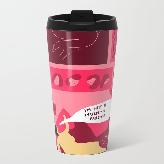 I´m not a morning person Metal Travel Mug