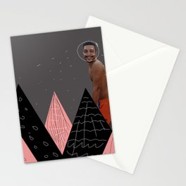 shapes and montains Stationery Cards