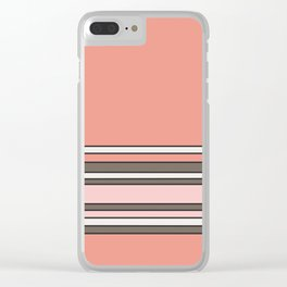 The Pink Stripes Clear iPhone Case