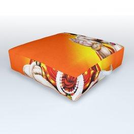 Hindu - Hanuman 2 Outdoor Floor Cushion