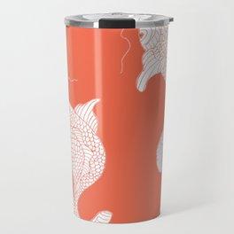 orange koi Travel Mug