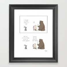 Ice Cream is More Fun  Framed Art Print