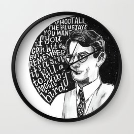 Atticus Finch Wall Clock