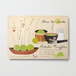 How to make Matcha Truffles Metal Print