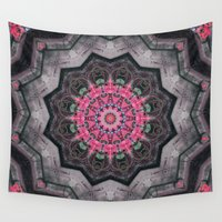 cracked Wall Tapestries featuring Cracked Slate Bouquet by Jellyfishtimes