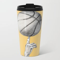 Basketball spin orange Metal Travel Mug