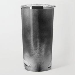 5095 The Squeeze | White Hug Black Embrace | Nude Travel Mug