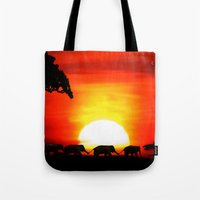 africa Tote Bags featuring Africa by Selina Morgan