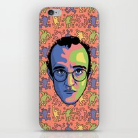 keith haring iPhone & iPod Skins featuring Haring by guissëpi
