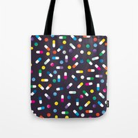 pills Tote Bags featuring Pills by Alisha Jensen