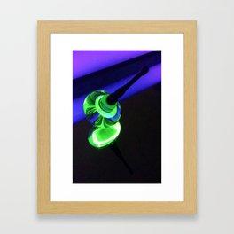 UV Reactive Uranium Top Framed Art Print