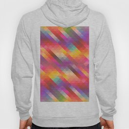 Abstract Colorful Decorative Squares Pattern Hoody